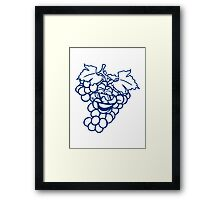 grapes grape harvesting tasty wine comic face cool sunglasses funny summer Framed Print