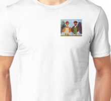 American Gothic Roosters Down on the Farm Unisex T-Shirt