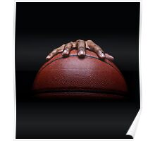 Basketball and Hand Dribbling Poster