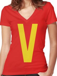 Classic Valkin! Women's Fitted V-Neck T-Shirt