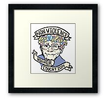 Flower Crown Bernie - Non-Violence and Higher Education Framed Print