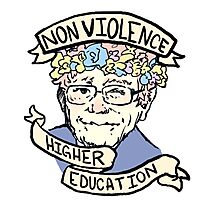 Flower Crown Bernie - Non-Violence and Higher Education Photographic Print
