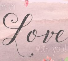 Painterly watercolour declaration of Love, flowers, nature Sticker
