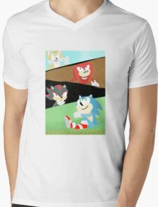 Sonic and Friends Mens V-Neck T-Shirt
