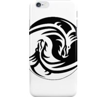 Yin & Yang dragons, white no. 2 iPhone Case/Skin