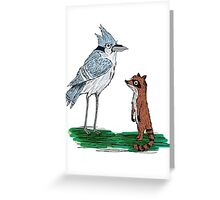 Mordecai and Rigby Greeting Card
