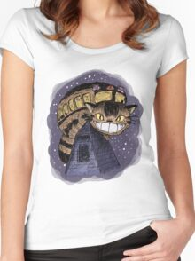 Catbus (Colour Version) Women's Fitted Scoop T-Shirt