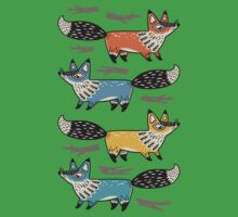 Foxes One Piece - Short Sleeve