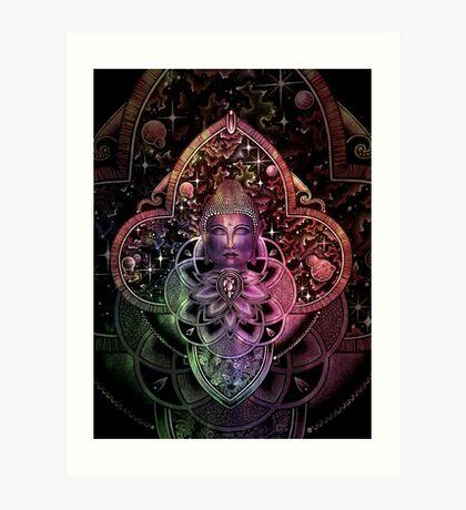 Color Nirvana2 - black Art Print