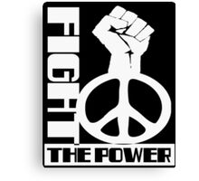 POWER TO THE PEOPLE (PEACE) FIGHT THE POWER Canvas Print