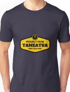 Proudly From Taneatua New Zealand Unisex T-Shirt