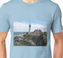 Portland Maine Lighthouse on Coast Unisex T-Shirt