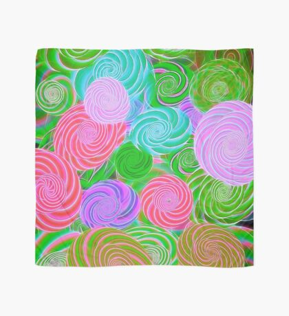 Pink Green Purple Abstract Art Scarf