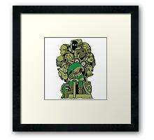 Zelda Mask Game Of Thrones Framed Print