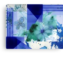 Flower Butterfly Abstract 2016 Canvas Print