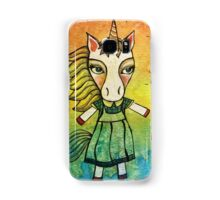 Intend and Let Go: Whimsical Unicorn Watercolor Illustration Samsung Galaxy Case/Skin
