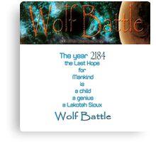 Wolf Battle   Canvas Print
