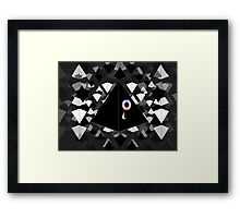 Triangles R My Favorite Shape NWO Graphic Framed Print