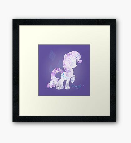 My Little Pony: Rarity Framed Print