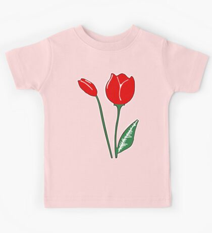 Red Tulips Kids Tee