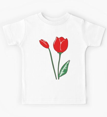 Red Tulips Kids Tee