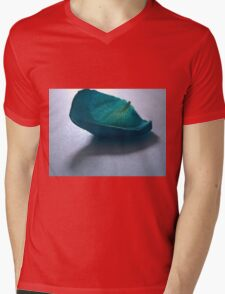 Blue Rose Petal Mens V-Neck T-Shirt
