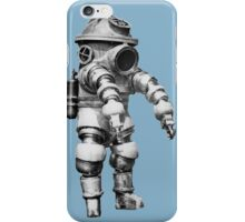 Vintage retro deep sea diver iPhone Case/Skin