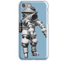 Vintage retro deep sea diver iPhone Case/Skin