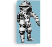 Vintage retro deep sea diver Canvas Print