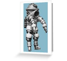 Vintage retro deep sea diver Greeting Card