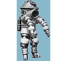Vintage retro deep sea diver Photographic Print