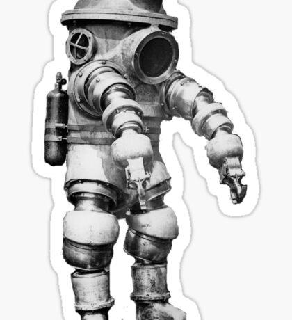 Vintage retro deep sea diver Sticker