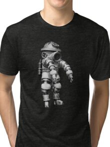 Vintage retro deep sea diver Tri-blend T-Shirt