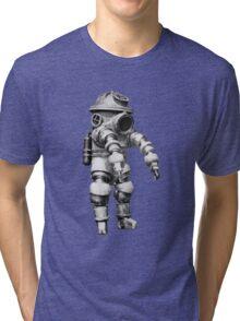 Vintage retro deep sea diver Tri-blend T-Shirt