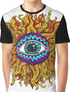 Psychedelic Sunflower - Just the flower Graphic T-Shirt