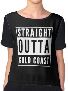 Straight Outta Gold Coast Chiffon Top