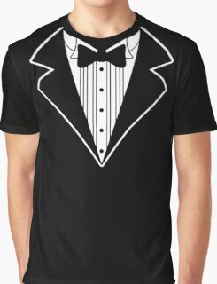 Fake Tux Tuxedo Suit Tie Graphic T-Shirt