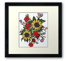 Bouquet of Flowers Framed Print