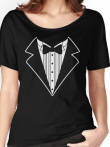 Fake Tux Tuxedo Suit Tie Women's Relaxed Fit T-Shirt