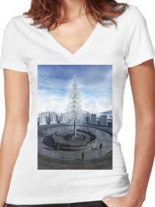 The fruit of Nimloth Women's Fitted V-Neck T-Shirt