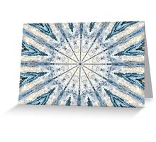 Beautiful abstract kaleidoscope of surf Greeting Card