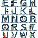 Occupations Alphabet by Amy Huxtable
