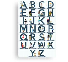 Occupations Alphabet Canvas Print