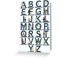 Occupations Alphabet Greeting Card