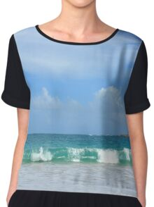 Big Waves After the Storm Chiffon Top