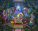 Bhojan lila Radha Krishna by Vrindavan Das
