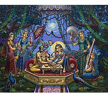 Bhojan lila Radha Krishna Photographic Print
