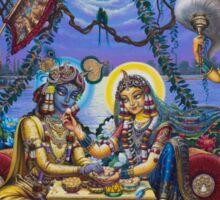 Bhojan lila Radha Krishna Sticker
