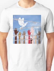 Hands Behind a Barbed Wire 4 T-Shirt