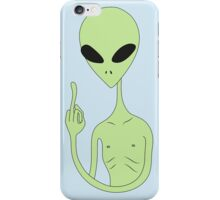 middle finger alien iPhone Case/Skin